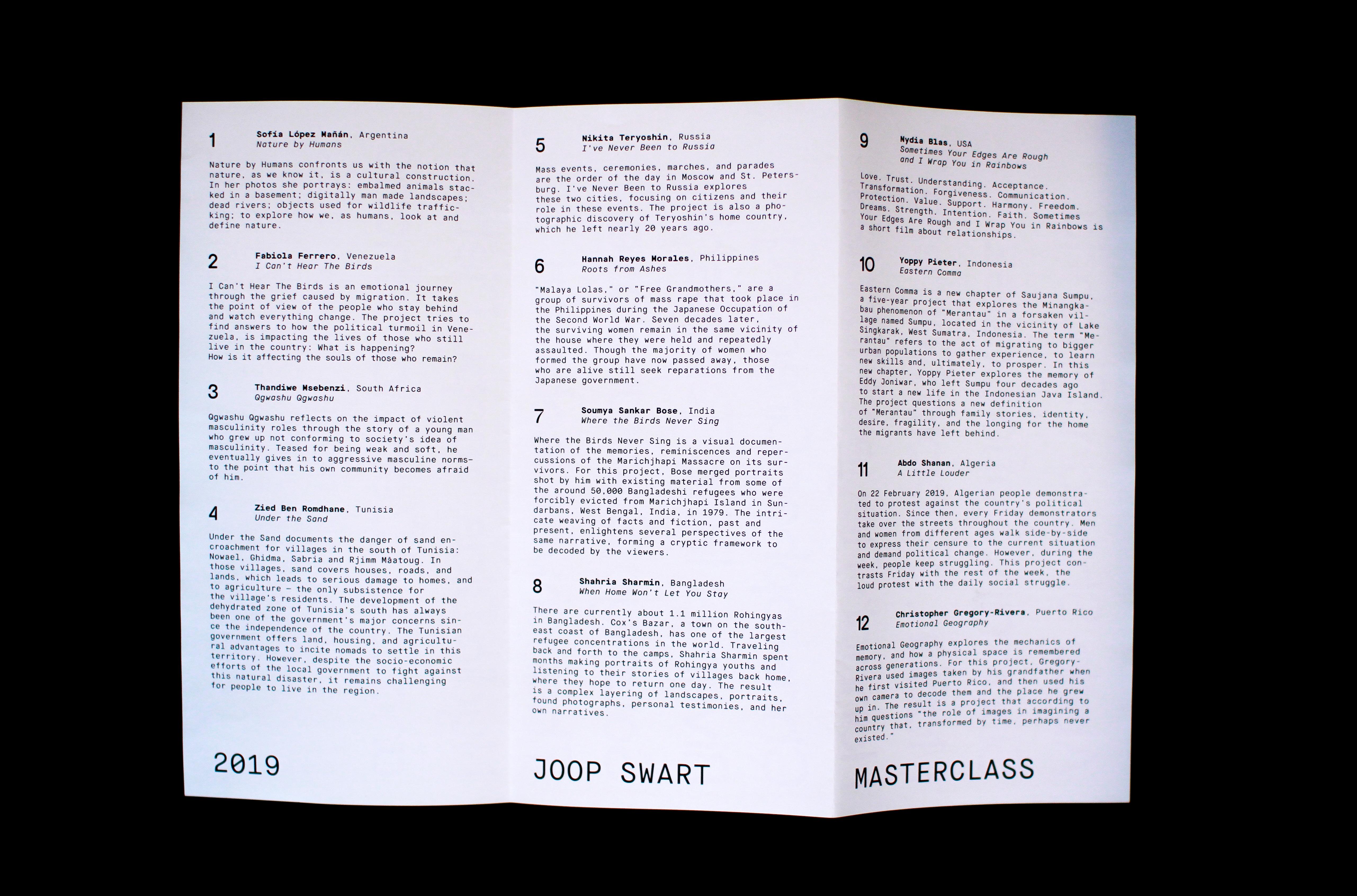 STUDIO JORD NOORBEEK Identiteit – World Press Photo expo – Joop Swart masterclass